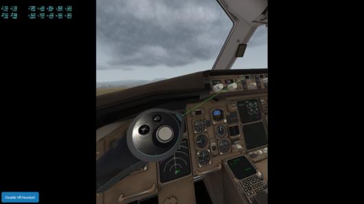 VRの設定画面